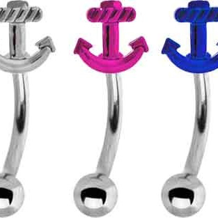 Anchor Eyebrow Bar PINK