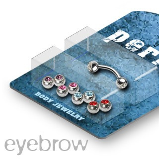 Bonus Pack 16g Eyebrow w/ Gem