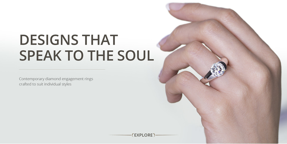 Designs that speak to the soul: contemporary and unique diamond engagement rings
