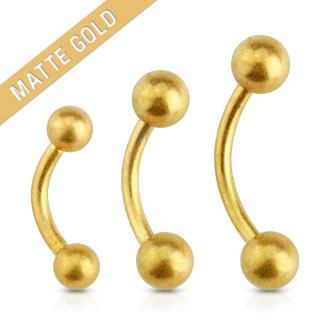 Matte Gold  Eyebrow Curve Barbell