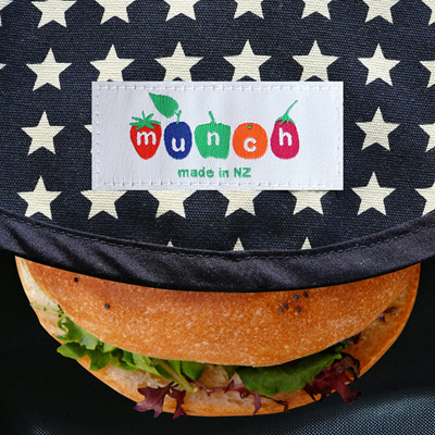 Munch Wrap white and blue star