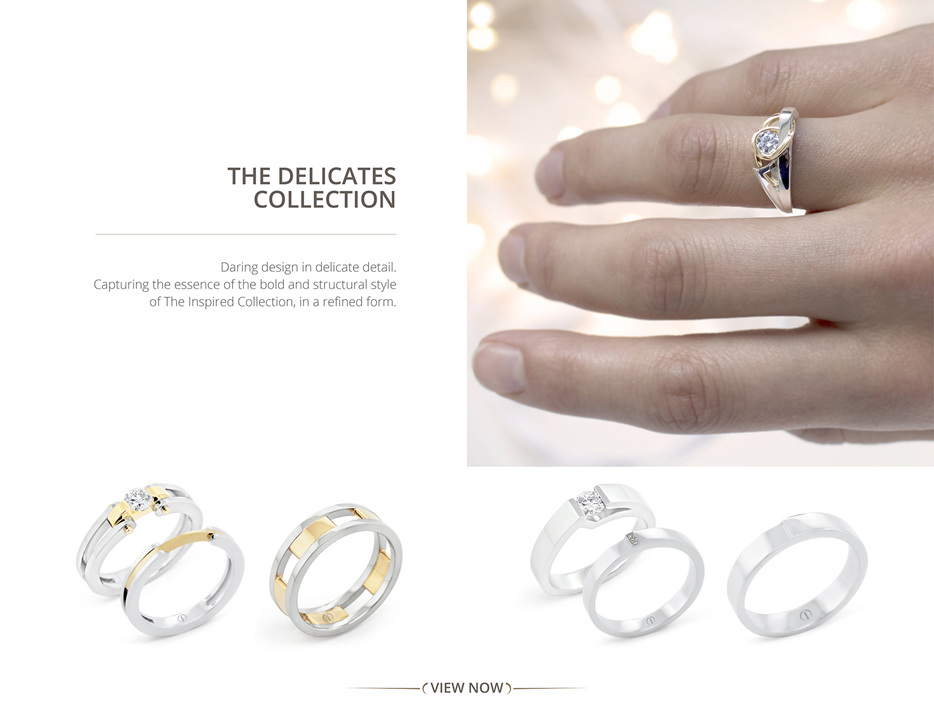 The Delicate Collection contemporary diamond engagement rings